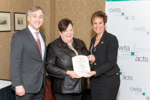 Left to right: CWTA President Bernard Lord; Jill Baxter, Executive Director, Conway Workshop Association; Lorelei Nicoll, Deputy Mayor of the City of Halifax.